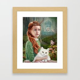 Puss 'n Princess Framed Art Print