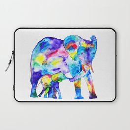 Colorful family elephants Laptop Sleeve