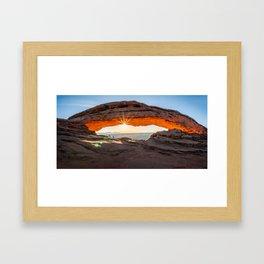 Sunburst at Mesa Arch in the morning Framed Art Print