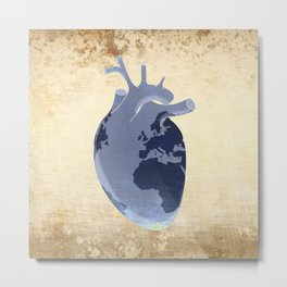 The earth is our heart - EARTH DAY '16 - all artist profits to be donated Metal Print
