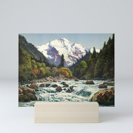Mountains Forest Rocky River Mini Art Print