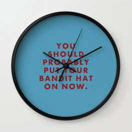 "Fantastic Mr Fox - ""You should probably put your bandit hat on now."" Wall Clock"