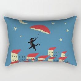 Upton The Cat And His Evening Adventures Rectangular Pillow