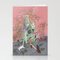alcohol Stationery Cards featuring Oh, Demon Alcohol! by LutherHimesIV
