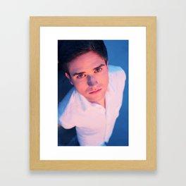 Roof-Top Men Framed Art Print