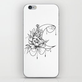 Feminine Moon - B&W iPhone Skin