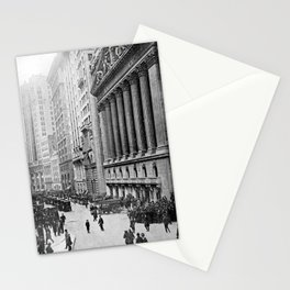 Vintage Wall Street NYC Photograph (1921) Stationery Cards