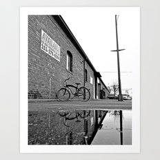 Former railroad depot Art Print