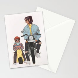 Sirius and harry motorcycle Stationery Cards