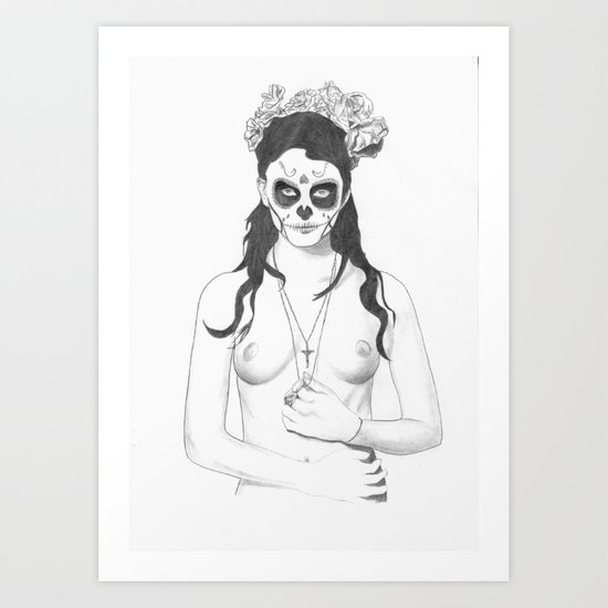 Day of the dead girl Art Print