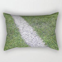 Sideline football field, Sideline chalk mark artificial grass soccer field Rectangular Pillow