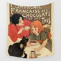 Vintage French tea and hot cocoa advertising by aapshop