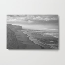 First Footsteps On The Beach Metal Print