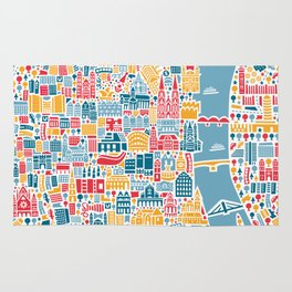 Cologne City Map Poster Rug