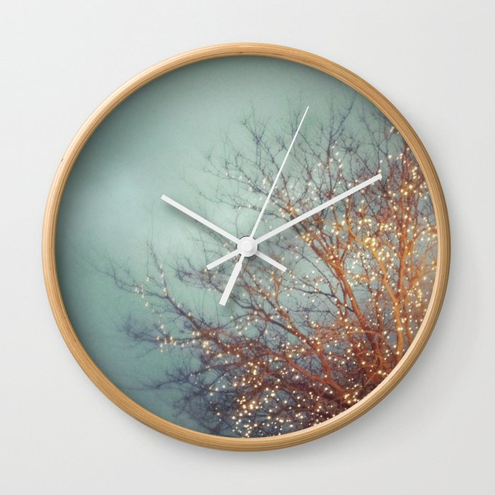 December Lights Wall Clock
