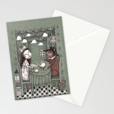 When it Rains Outside Stationery Cards