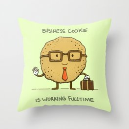 Fulltime Cookie Throw Pillow