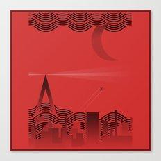 une nuit à paris (red version) Canvas Print