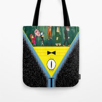 gravity falls Tote Bags featuring Gravity Falls by itspronouncedDEE-ANN-UH