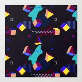 Memphis group inspired 80s pattern Canvas Print