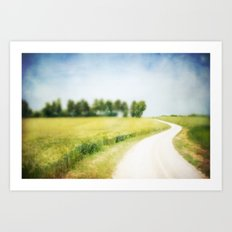 on the way through the summer Art Print