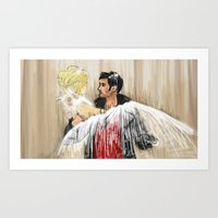 captain swan Art Prints featuring Captain Swan dream by ChiaraG27