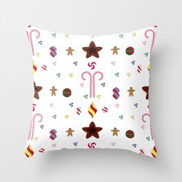 Candy cane pattern 1 Throw Pillow