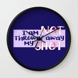My Shot (Hamilton Series) Wall Clock