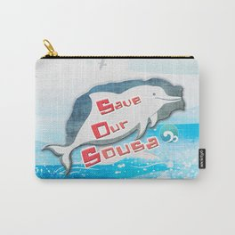 LOVE TAIWAN PINK DOLPHINS / SAVE TAIWAN PINK DOLPHINS Carry-All Pouch