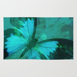 Butterfly Blue Rug