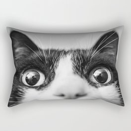 Funny Cat black and white Rectangular Pillow