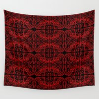 demon Wall Tapestries featuring Demon Skin by Cartoonasaurus