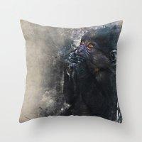 gorilla Throw Pillows featuring Gorilla by jbjart