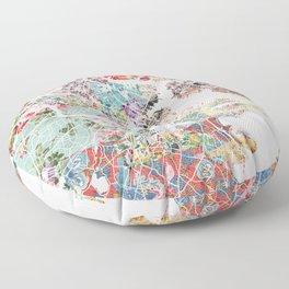 Boston map portrait Floor Pillow