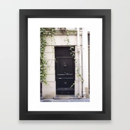The Black Door at No. 9 Framed Art Print