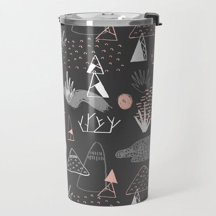 Mountain Pattern Travel Mug