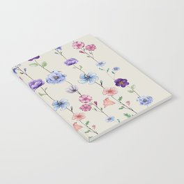 Line up of Petals Notebook