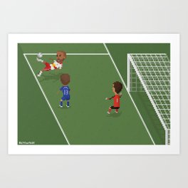 Thierry Henry's Bicycle Kick Art Print