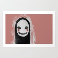 studio ghibli Art Prints featuring Studio Ghibli-Spirited Away by Devilphernelia