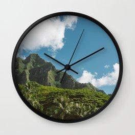Hawaiian Mountain Wall Clock