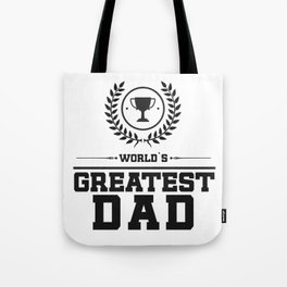 World`s Greatest DAD Tote Bag