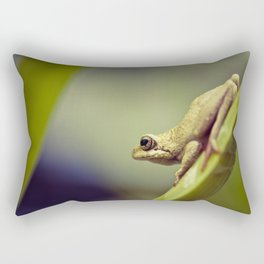 Arum lily frog on blue background - Macro Photography #Society6 Rectangular Pillow