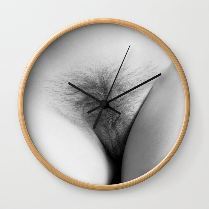 Origin. Delicate Pussy of Sexy Nude Woman Wall Clock