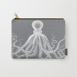 Octopus | Vintage Octopus | Tentacles | Grey and White | Carry-All Pouch