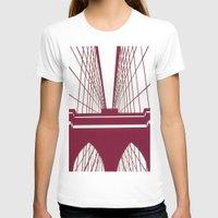 brooklyn bridge T-shirts featuring Brooklyn Bridge by Melinda Zoephel