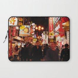 Night Vibe in Dotonburi, Osaka Laptop Sleeve