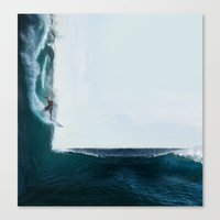 witchoria Canvas Prints featuring Surf's Up by witchoria