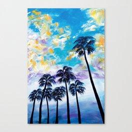 Oceanside Palm Trees Canvas Print