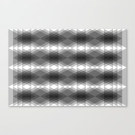 Triangles Merging Canvas Print