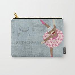 Sock Monkey Ballerina Carry-All Pouch